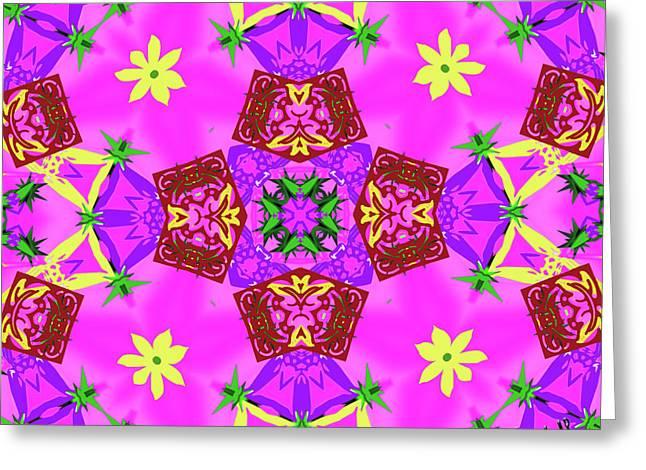 Pink 3 Greeting Card