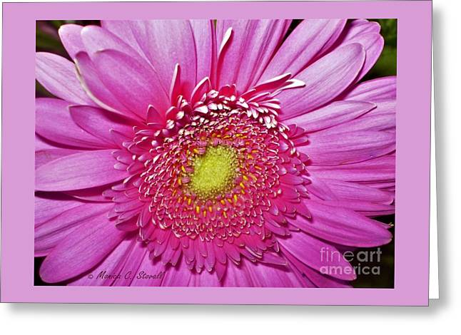 Pink Flowers P4 Greeting Card