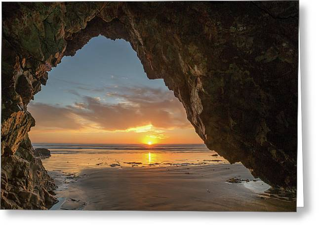 Pismo Caves Sunset Greeting Card