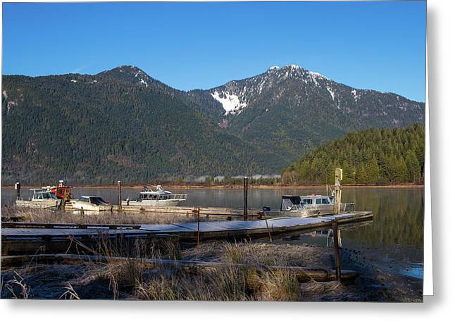 Pitt Lake Winterimpression Greeting Card