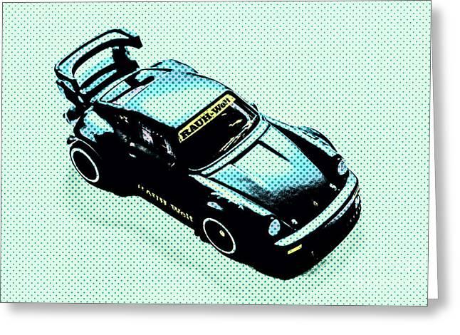 Pixel Porsche Greeting Card
