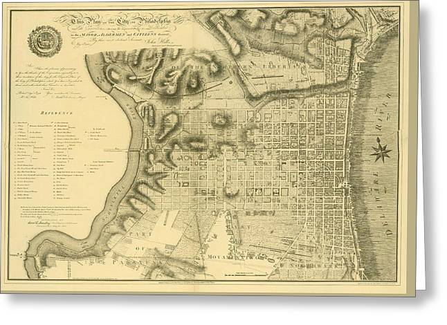 Plan Of The City Of Philadelphia And Its Environs Shewing The Improved Parts, 1796 Greeting Card