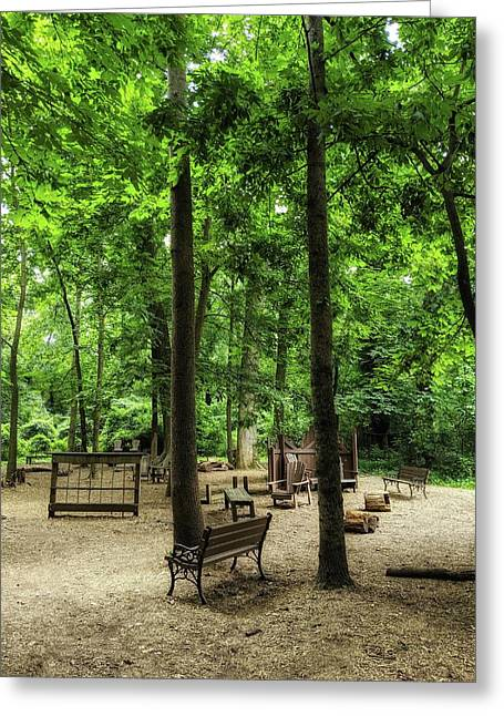 Play In The Shade Greeting Card