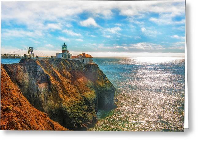 Point Bonita Lighthouse Greeting Card by Fernando Margolles