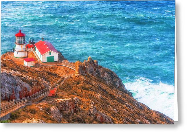 Point Reyes Lighthouse Greeting Card by Fernando Margolles