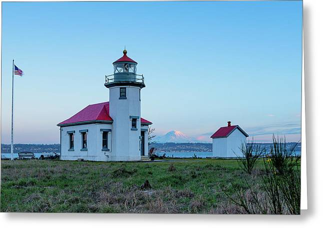 Point Robinson Lighthouse At Maury Island, Wa Greeting Card