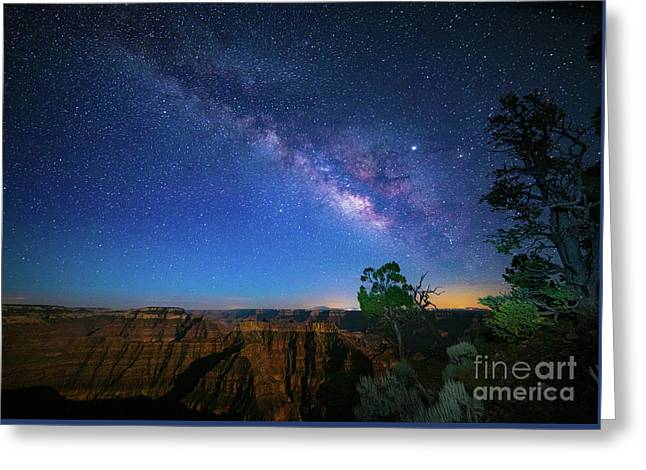 Point Sublime Milky Way Greeting Card