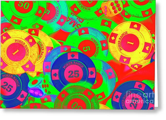 Poker Stacks Greeting Card