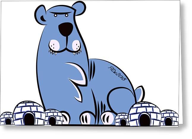 Polar King Greeting Card