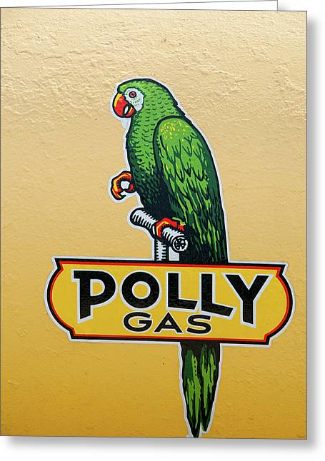 Polly Gas Greeting Card