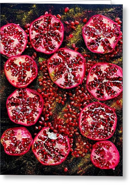 Pomegranate New Year Greeting Card