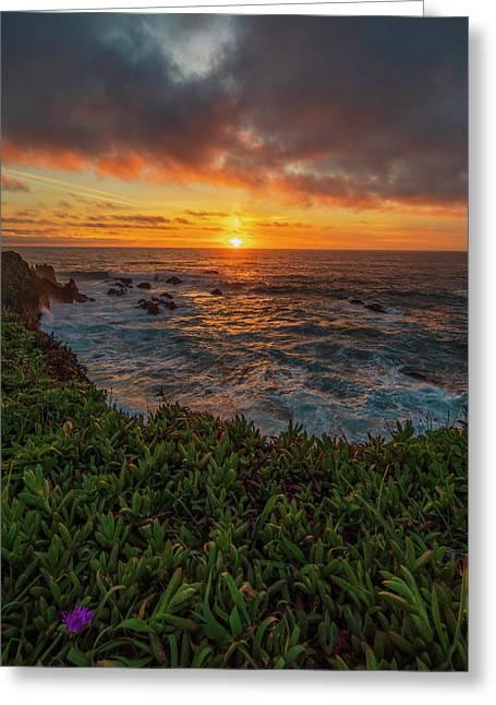 Pomo Bluffs Sunset - 2 Greeting Card