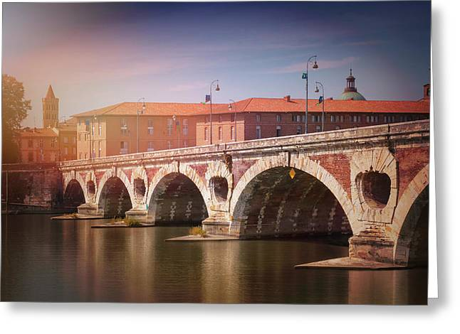 Pont Neuf Toulouse France  Greeting Card
