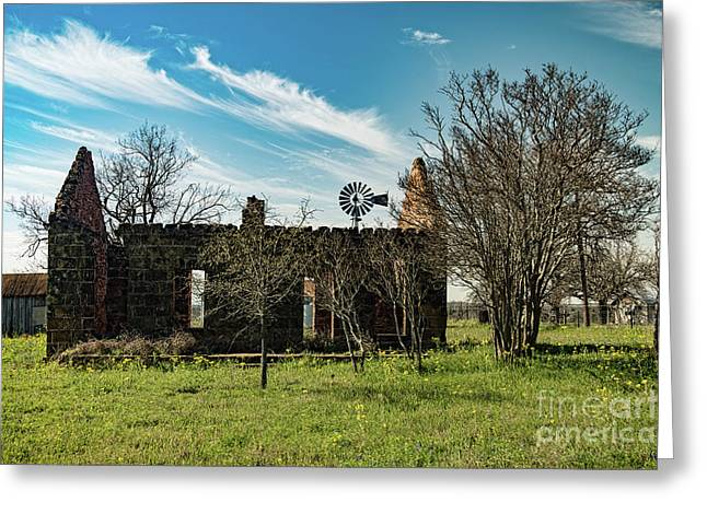 Pontotoc House Ruins Greeting Card by Elijah Knight