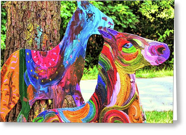 Greeting Card featuring the photograph Pony Art   by JAMART Photography