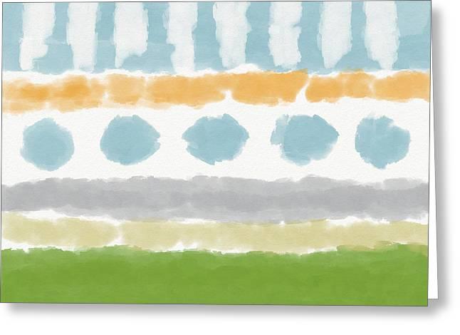 Poolside 3- Art By Linda Woods Greeting Card
