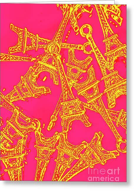 Pop Art Paris Greeting Card