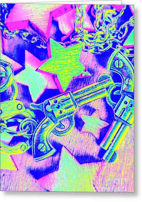 Pop Art Police Greeting Card