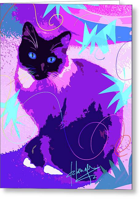 Pop Cat Cocoa Greeting Card