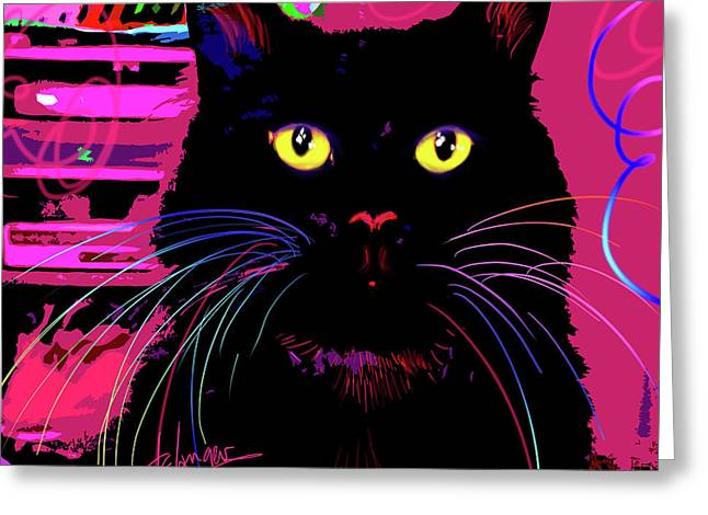 pOpCat Morticia Greeting Card