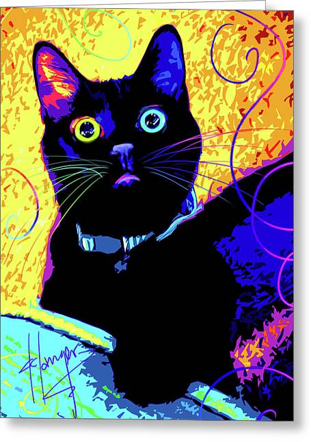 pOpCat Olive Greeting Card