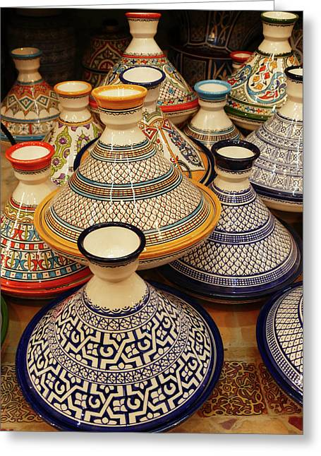 Porcelain Tagine Cookers  Greeting Card