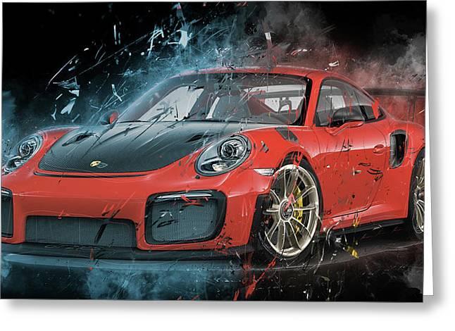 Porsche 911 Gt2 Greeting Card
