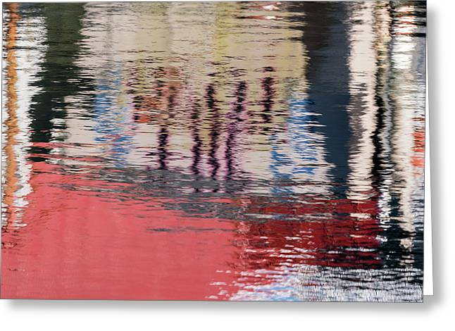 Port Reflections Greeting Card