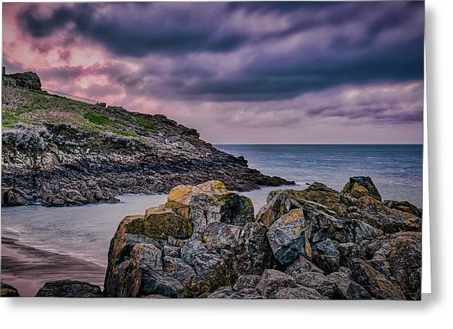 Porthgwidden Dramatic Sky Greeting Card