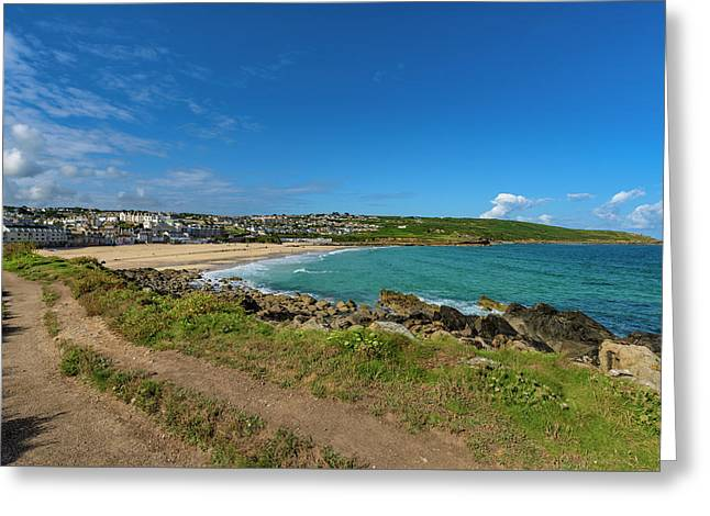 Porthmeor Beach - St Ives Cornwall Greeting Card