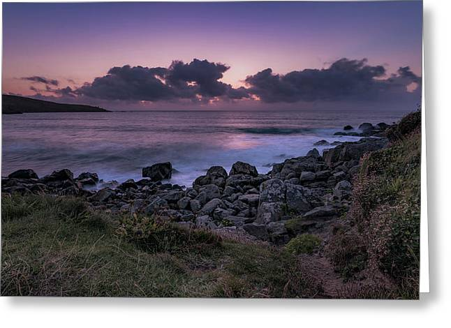 Porthmeor Sunset - Cornwall Greeting Card