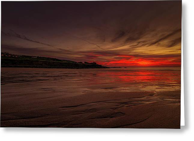 Porthmeor Sunset Greeting Card