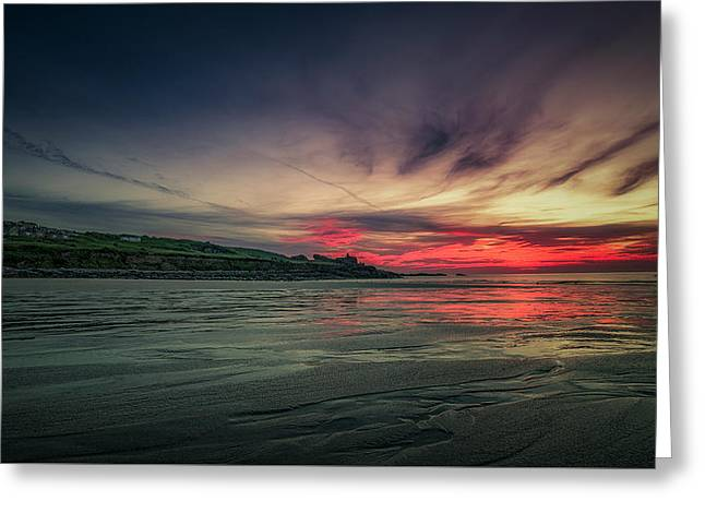 Porthmeor Sunset Version 2 Greeting Card