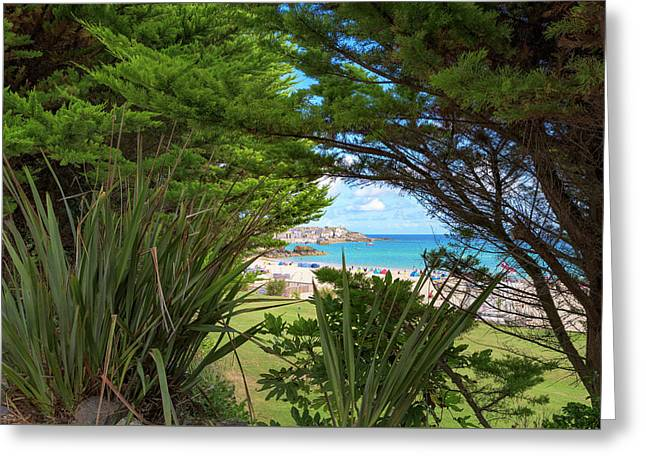 Porthminster Behind The Trees - St Ives Cornwall Greeting Card