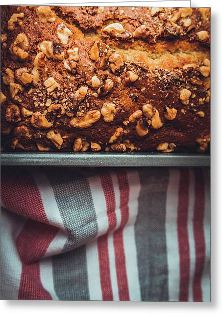 Portion Of Freshly Baked Banana Bread  Greeting Card