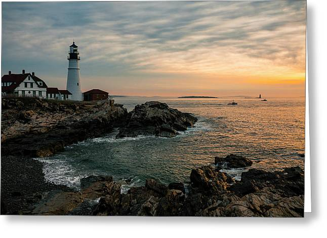 Portland Head Sunrise Final Greeting Card
