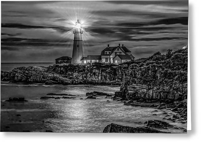 Portland Lighthouse 7363 Greeting Card