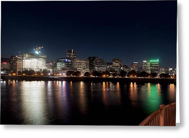 Greeting Card featuring the photograph Portland Oregon Skyline 102118 by Rospotte Photography