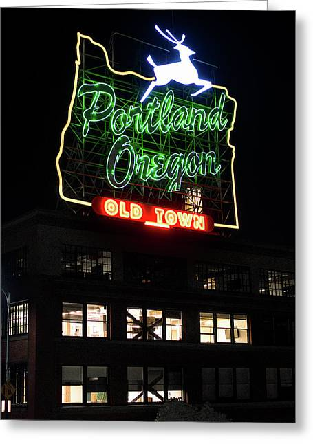 Greeting Card featuring the photograph Portland Oregon White Stag 117 by Rospotte Photography