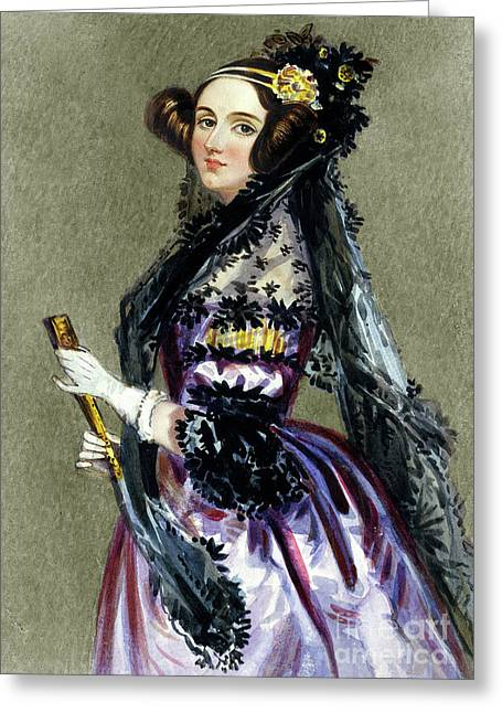 Portrait Of Augusta Ada King,countess Of Lovelace Greeting Card