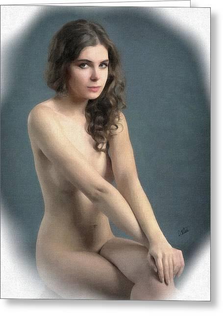 Portrait Of Girl Au Naturel - Dwp2655644 Greeting Card