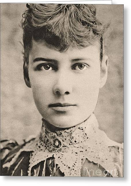 Portrait Of Nellie Bly, Circa 1890 Greeting Card