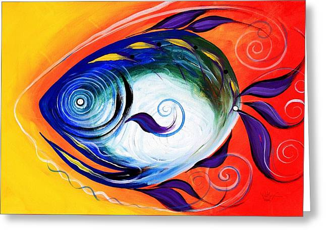 Positive Fish Greeting Card