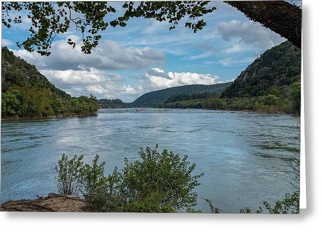 Potomac River At Harper's Ferry Greeting Card
