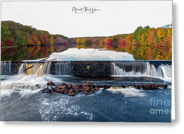 Greeting Card featuring the photograph Power Of The Shetucket by Michael Hughes