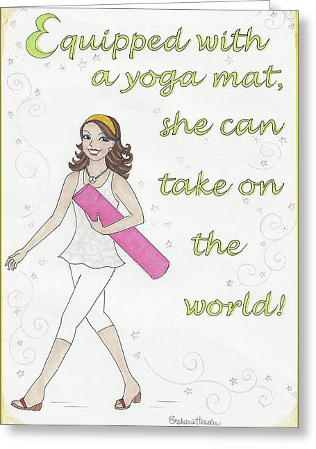 Power Of Yoga Mat Greeting Card