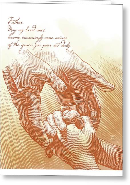 Greeting Card featuring the drawing Prayer by Clint Hansen
