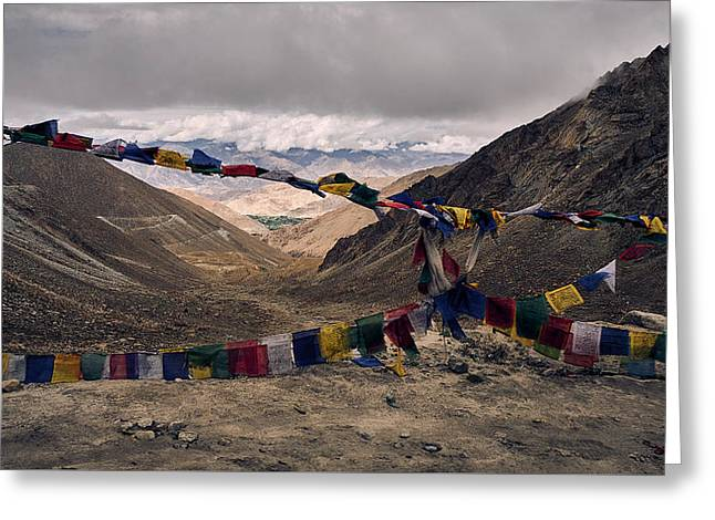 Prayer Flags In The Himalayas Greeting Card