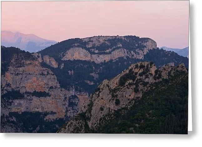 Greeting Card featuring the photograph Pre Pyrenees Sunset by Stephen Taylor