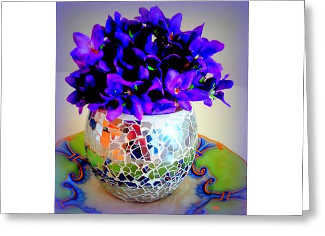 Pretty Purple Petals O T T Greeting Card